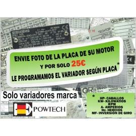 PROGRAMACIÓN VARIADOR PLACAS MOTOR (SOLO POWTECH)