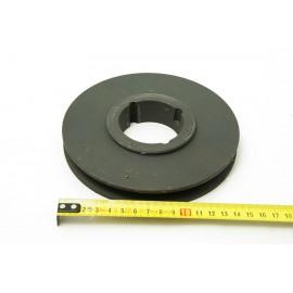Nº1513. POLEA DE HIERRO 155 mm HUECO DE EJE 56mm