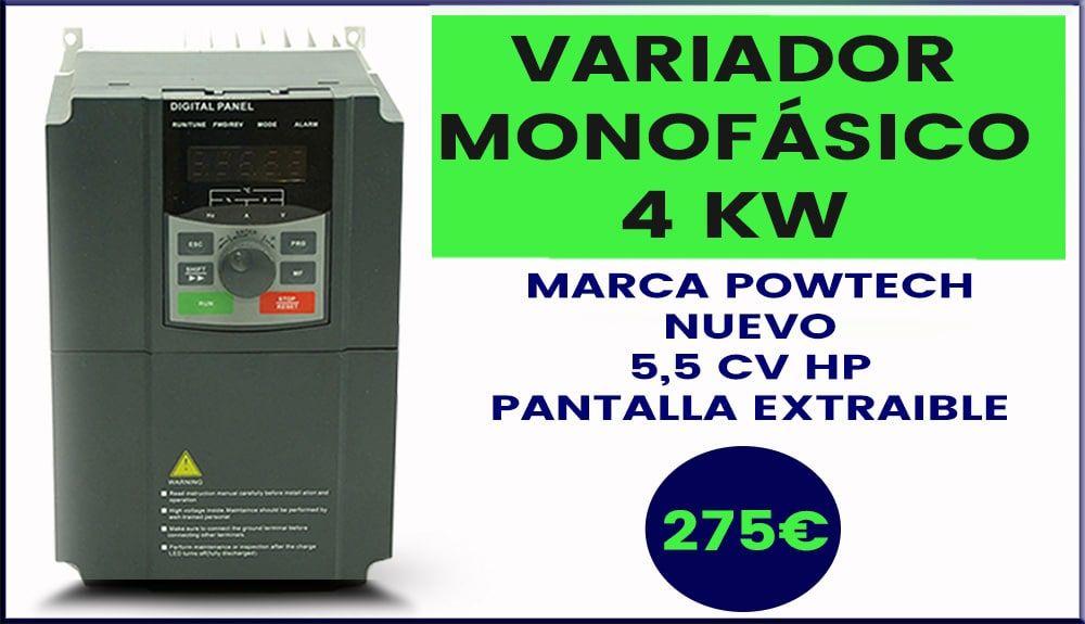 Variador de Frecuencia Monofasico Powtech 4KW